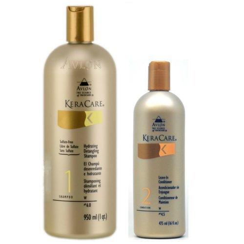 Avlon Keracare Leave in Conditioner 16oz + Keracare Hydrating Detangling Shampoo 32oz by Avlon