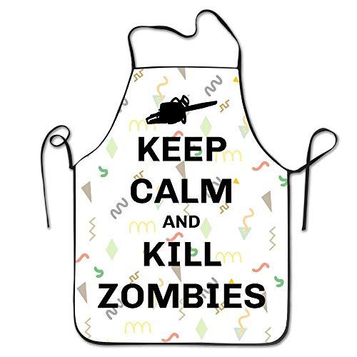 Behalten Sie Ruhe und töten Sie Zombies BBQ-Küche, die Schutzblech kocht
