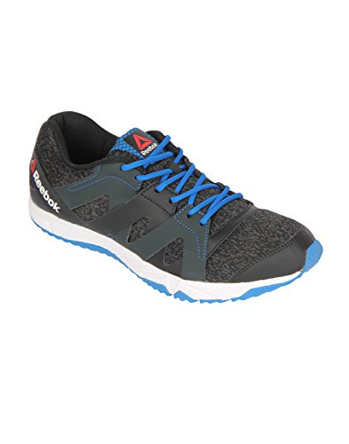 Reebok Men's Black/Gravel/Blue/White Running Shoes - 7 UK/India (40.5 EU)(8 US)