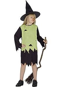 Carnaval - Disfraz de bruja para niña, talla 7-10 Anni
