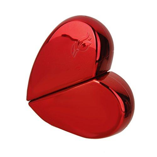 Atomiseur de Parfum Bouteille de Pulvérisation Voyage Rechargeable Vide 25ml Coeur Rouge