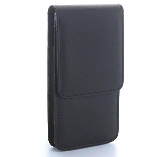XiRRiX Vertikal Tasche mit Stahlclip und Sicherungsschlaufe - Größe XL - passend für Microsoft Lumia 640 650 950 - Wiko Rainbow Jame Lite UP
