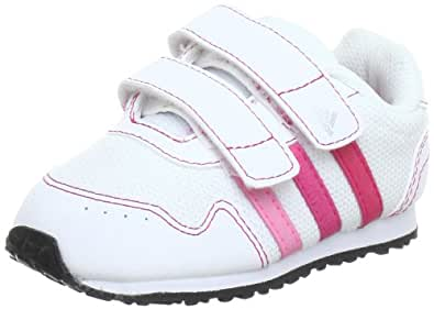 adidas Performance Unisex - Baby Snice 2 CF I First Walking Shoes  White Weiß (RUNNING WHITE FTW / BLAZE PINK S13 / METALLIC SILVER) Size: 21