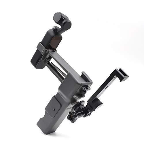 RONSHIN Handheld Z-Achse Stabilisator Faltbare Vier-Achsen-Griff Stabilisator Aluminium-Handy-Clip-Set für DJI OSMO Pocket Zubehör