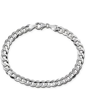 SilberDream Armband für Damen und Herren Panzer facettiert 19cm aus 925 Sterling Silber Unisex SDA2499J