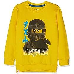 LEGO Wear Boy Ninjago CM-73087, Sudadera para Niños, Amarillo (Yellow 202), 8 años