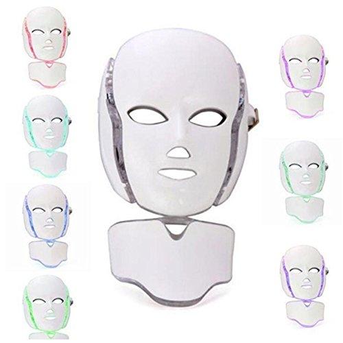 GYMAN 7 Farbe Licht LED Photon Therapie Behandlung Gesichtsmaske Hautverjüngung Whitening Gesichts Schönheit Tägliche Hautpflege Bunte Maske, white - Aufhellung Feuchtigkeit Behandlung
