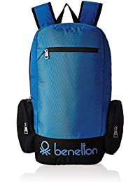 United Colors of Benetton 22 Ltrs Blue Casual Backpack (16A6BAGT7010I)