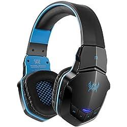 Inalámbrico Gaming Headset Auriculares para PC Tablet iPhone iPad Samsung Smartphone Laptop diwuer Bluetooth V4.1 Auriculares de diadema con micrófono