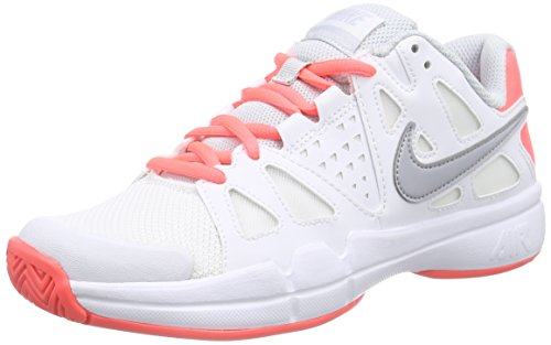 Nike Damen Air Vapor Advantage Tennisschuhe Weiß (White/Wolf Grey/Hot Lava/Pure Platinum) 38 EU - Pure Advantage Air