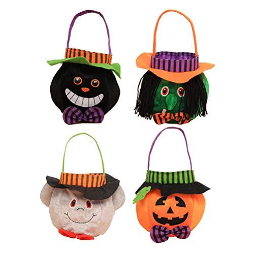 Healifty 4pcs Halloween Eimer süße Tuch Candy Eimer Süßigkeiten Süßigkeiten Beutel Halter für Halloween Party Dekoration Lieferungen
