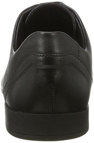 Clarks Glement Over, Derby Uomo Nero (Black Leather)
