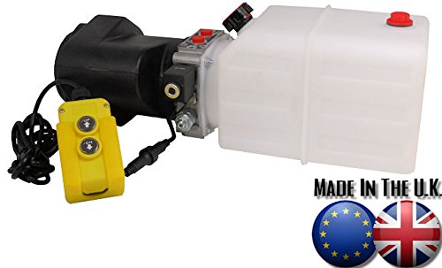 12v DC Hydraulic Power Pack (Tipper/Trailer) /w 5 Litre Plastic Tank & Pendant Test
