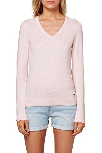 edc by ESPRIT Damen Pullover 998cc1i804, Rosa (Light Pink 690), S
