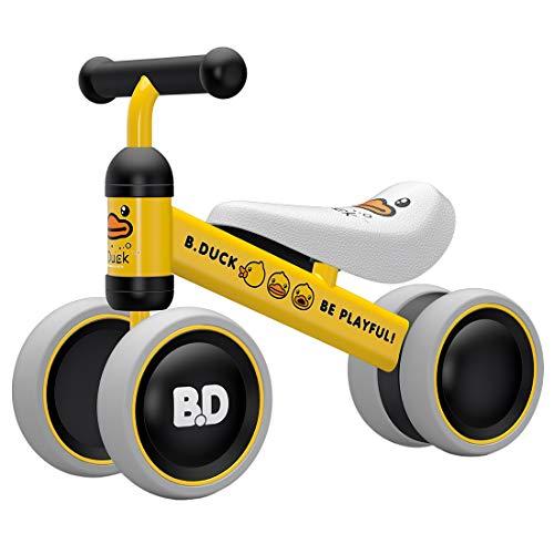 Jo332Bertram Kinder Laufrad Balance Fahrrad Lauffahrrad Baby Erstes Fahrrad für Kinder 10-24 Monate, Gelb