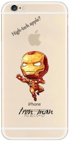 Case4U New Marvels Avenger Transparent Clear TPU Soft Case For Apple iPhone 7 SUPERMAN 1 IRONMAN