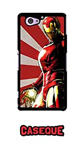 Caseque Marv Iron Man Back Shell Case Cover For Sony Xperia Z2 Compact