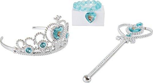 Bavaria - Home - Style - Collection Disney Die Eiskönigin Frozen ELSA Let it Go Verkleidungszubehör Prinzessin - Diadem - Zauberstab - Krone - ideal für Fasching - Karneval