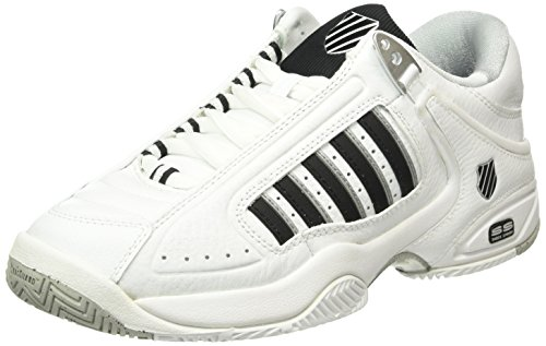 K-Swiss Performance KS Tfw Defier Rs, Scarpe da Tennis Uomo, Bianco (White/Black 30), 39.5 EU