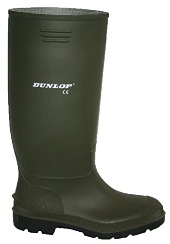 DUNLOP WELLIES BLACK AND GREEN MENS FULLY WATERPROOF SIZES 3-12