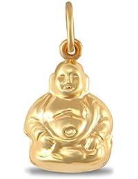 Jewelco London Ladies 9ct Yellow Gold Buddha Charm Pendant