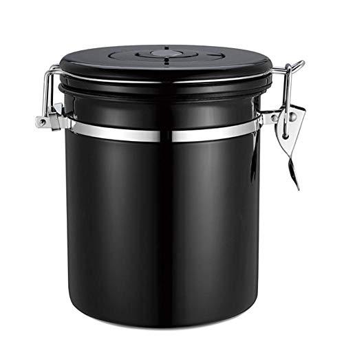 Contenitore per caffè ermetico contenitore per caffè contenitore universale per caffè in acciaio inox con valvola sigillata coperchio per conservare perfettamente i chicchi di caffè o la polvere di ca