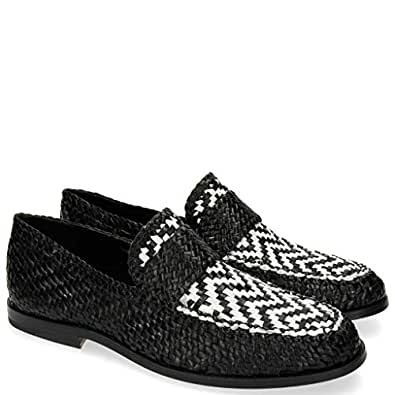 897922680adb8 MELVIN   HAMILTON MH HAND MADE SHOES OF CLASS Pit 10 Woven Black ...