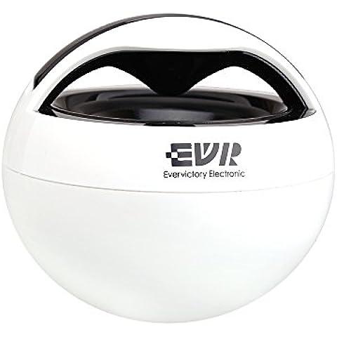 EVR batteria portatile mini altoparlante bluetooth con microfono White