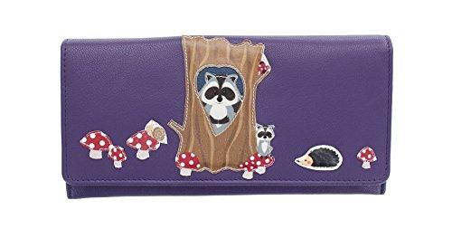 HELIX Leather Bad Collection Ladies Leather Handbag 3409_98 Purple