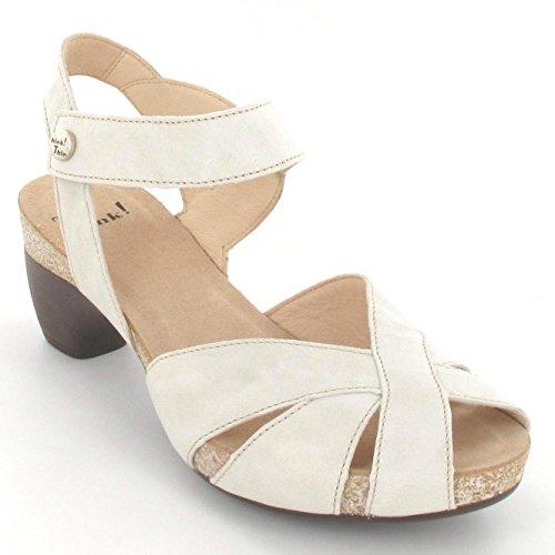 Think Damen Sandalette - Riemchen Sandalen TRAUDI 0-80574-28 Weiß, EU 39