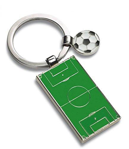 Schlüsselanhänger Fussball Kinder mit Gravur auf der Rückseite, Glücksbringer Fussball personalisiert mit Wunschtext