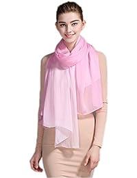Prettystern - Schal mit Farbverlauf Batik 180cm 100% Seide Damenschal - Farb- und Größenwahl