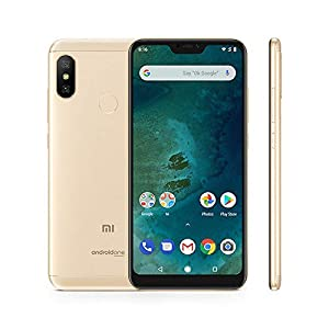 "Xiaomi Mi A2 Lite - Smartphone Dual SIM de 5.84"" (Octa-Core 2.0 GHz, RAM 4 GB, memory 64 GB, GBal chamber 12+5 MP, Android) Golden colour [Spanish version]"