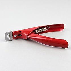 Cortatips de color rojo. Cortador de uñas postizas. CORTA TIPS. Blucc Style.