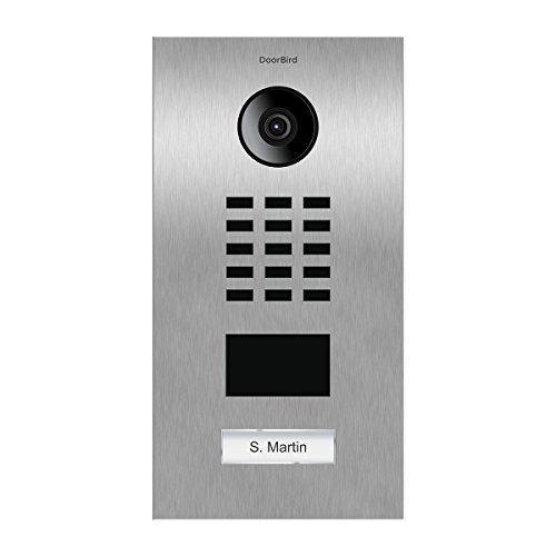 Door Bird D2101V Video-Türsprechanlage, IP mit RFID-1, Türklingel INOX-Doorbird (Telefon Mit Garagentoröffner)
