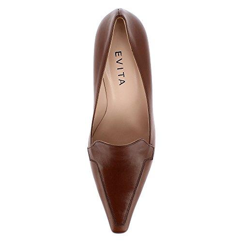 tacco Patrizia Scarpe donna Shoes col Marrone Evita IwpxTCqn7