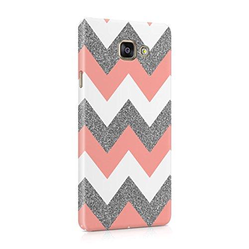 Coral Pink Chevron Glitter Pattern Tumblr Custodia Posteriore Sottile in Plastica Rigida Cover per Samsung Galaxy A5 2016 Slim Fit Hard Case Cover