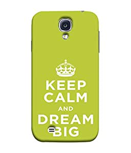 FUSON Designer Back Case Cover for Samsung Galaxy S4 I9500 :: Samsung I9500 Galaxy S4 :: Samsung I9505 Galaxy S4 :: Samsung Galaxy S4 Value Edition I9515 I9505G (Beautiful Crown Always Stay Silent And Dream Big To Achieve)
