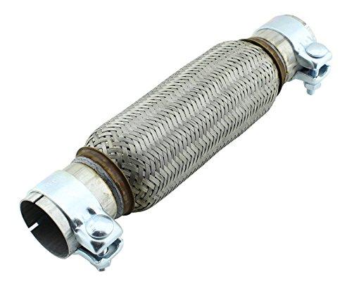 55x 230mm tubo flessibile in acciaio inox universale con montaggio fascette