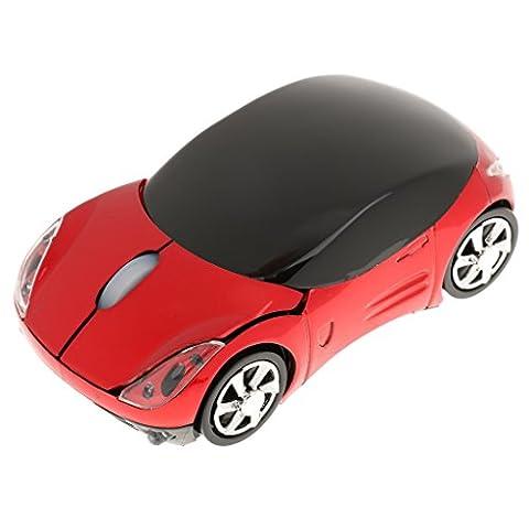 2.4g 1600dpi Maus USB Empfänger Drahtlos Licht Carshape Optische Mäuse - Rot, 100 * 50mm
