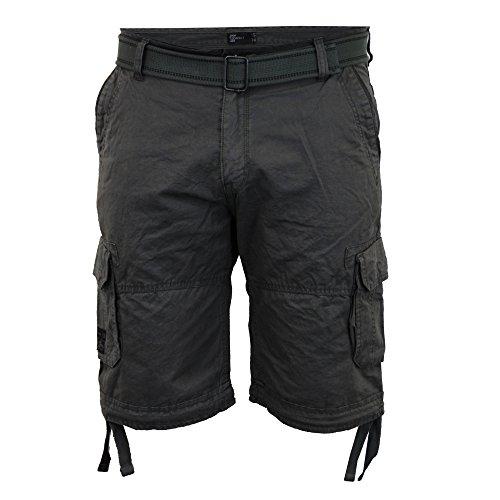 Shorts Hommes Dissident Cargo Combat Longueur Genou Ceinture Militaire DécontractéÉté Neuf Charcoal - 1G8851
