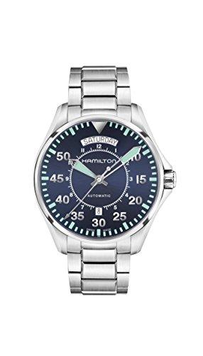 Hamilton Khaki Pilot Auto / orologio uomo / quadrante blu / cassa acciaio / cinturino acciaio