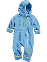 Playshoes Unisex Baby Schneeanzug Fleece-Overall Farblich Abgesetzt