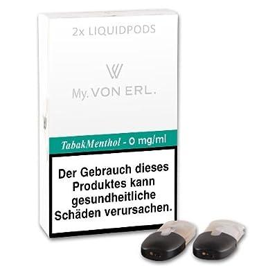 Cartomizer VON ERL. My TabakMenthol nikotinfrei 2 Liquidpods à 2 ml von VON ERL. GmbH
