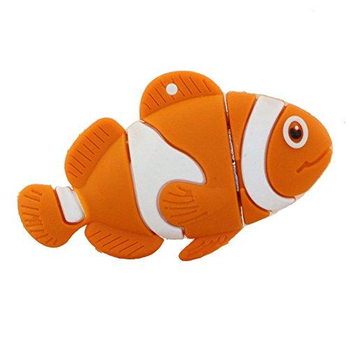 32gb pesce arancione modello usb flash drive usb pendrive pen drive usb di memoria esterna pollice stick usb memory card