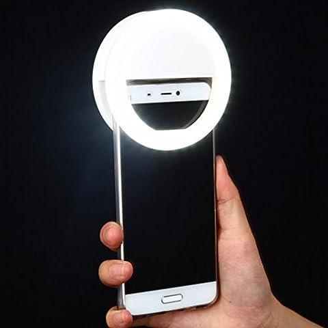 Bidafun Luz Selfie funda Ring Light Case Led Flash Para Camara Fotos Iphone 6 plus 6s Redmi Note 3 Huawei