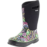 Bogs Girls Wellington Boots Insulated Size UK 6-2 Classic Tuscany Black 52502-UK 12 (EU 30)