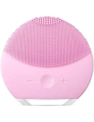 Silicone Facial Cleanser, Xiaoyi Facial Cleansing Brush Sonic Electric Waterproof Silicone Face Massager Anti-Aging Skin Cleansing System for All Skin Types-Pink (pink1)