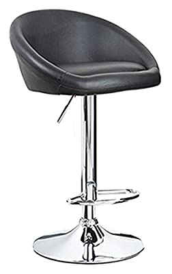 Venus Black Leather Breakfast Kitchen Bar Stool