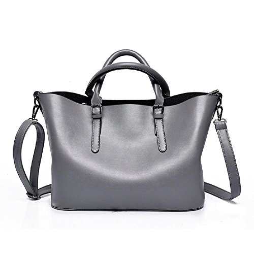 moda europee e americane borse grande capacità di alta qualità sacchetto di spalla casuale Messenger bag Immagine , gray